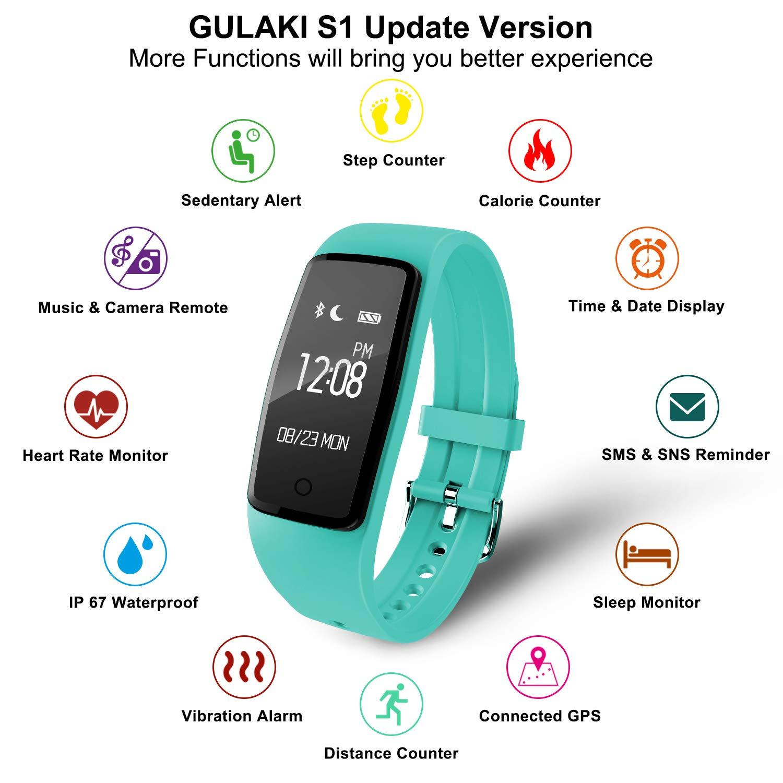 ITSHINY Pulsera Actividad Hombre Mujer, Pulsera Actividad Inteligente Reloj Pulsómetro Impermeable IP68 Podómetro Pulsera Deportiva Reloj para Xiaomi ...