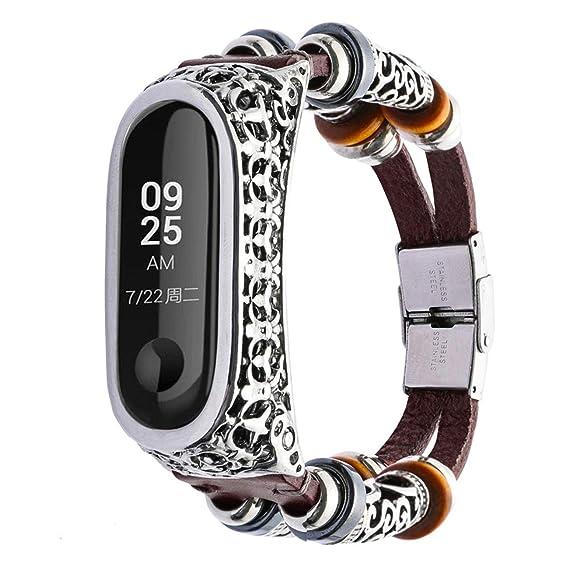 Hombre Mujer Reloj Reemplazo De Pulsera De Cuero Correa Correa + Caja De Metal para Xiaomi