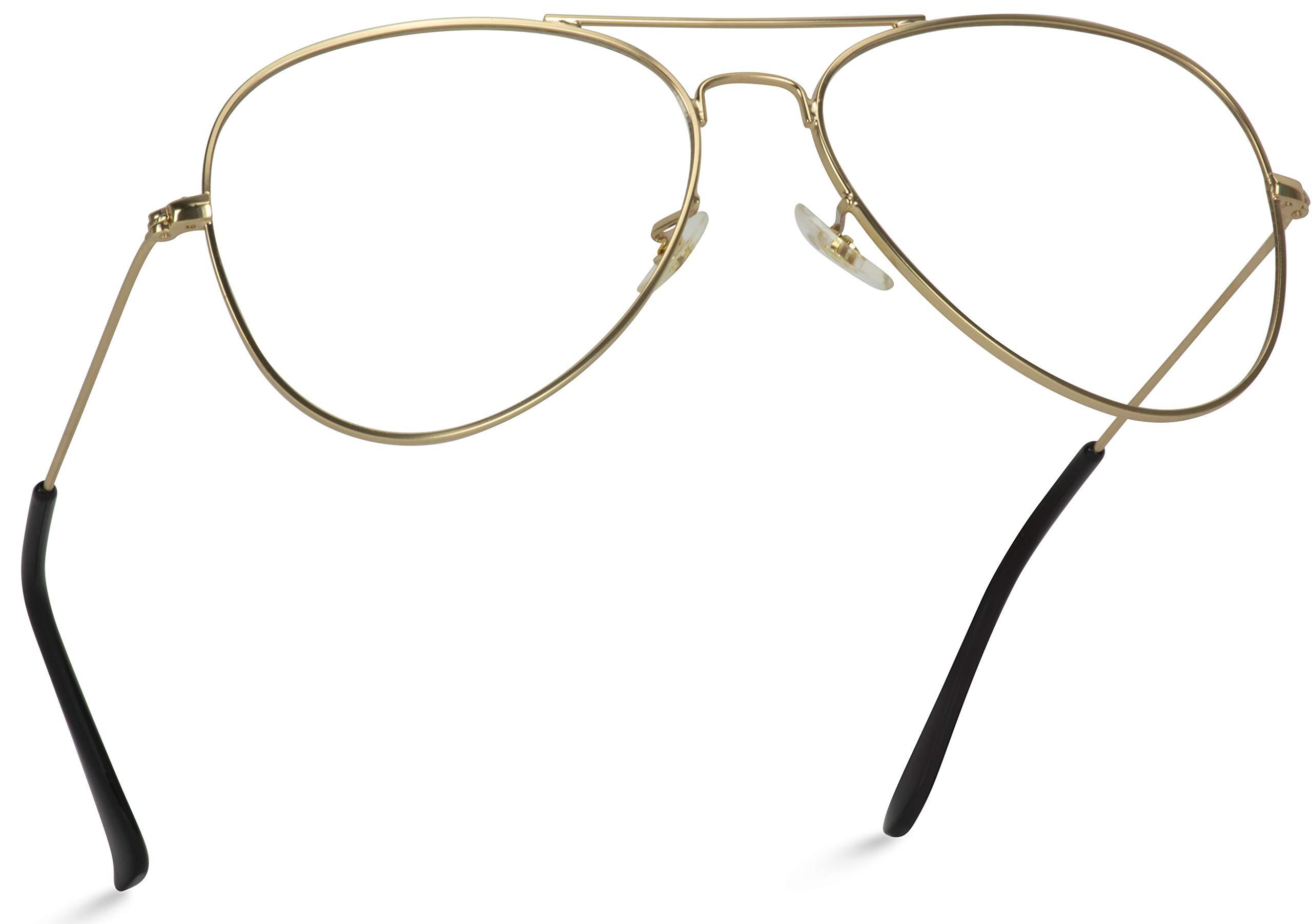 WearMe Pro - Premium Elegant Metal Frame Retro Vintage Aviator Glasses by WearMe Pro