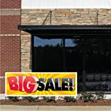 """Business Banner - 2' x 6' """"Big Sale!"""" 10 oz. Vinyl Banner, with Grommets for Hanging"""