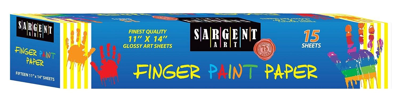 Sargent Art 66-7014 15 Sheet Finger Paint Paper, White