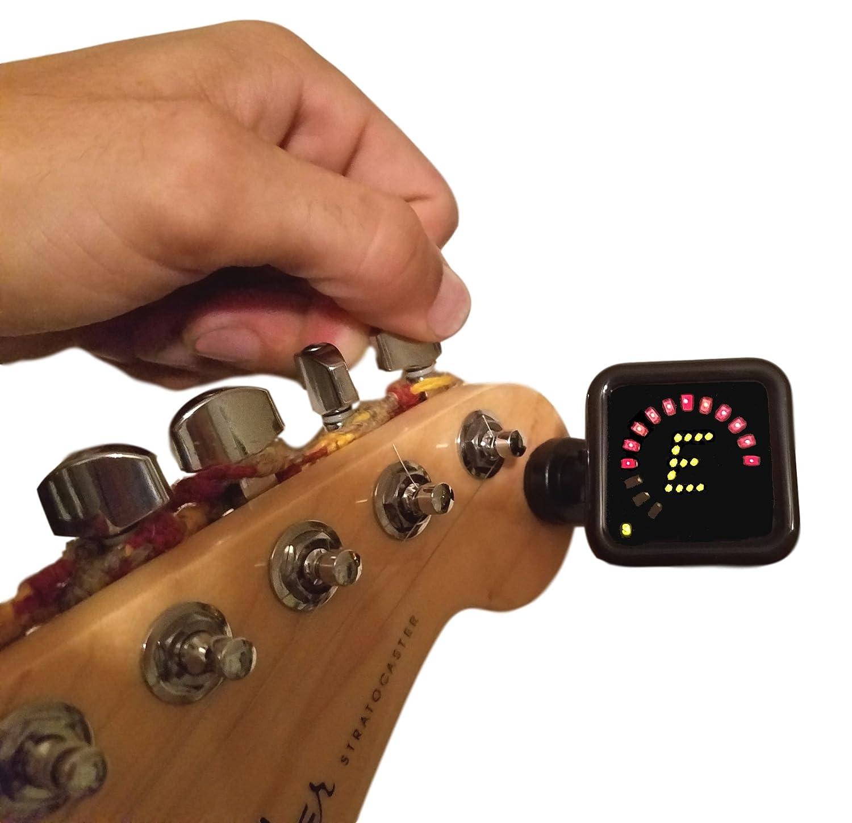 Crescendo zenstrobe True estroboscópica Clip On Sintonizador, para todos los instrumentos, acústica, eléctrica, clásica para guitarra, bajo, violín, ...