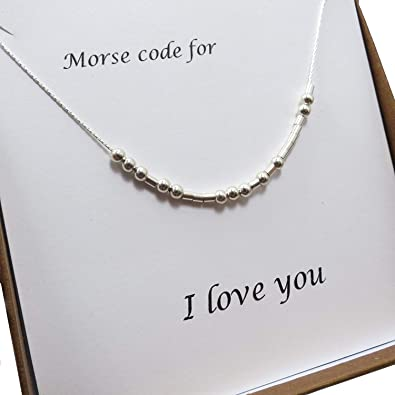 Grateful Morse Code Necklace S925 Sterling Silver Morse Code Pendant Necklace Women Jewelry Birthday Gifts for Friends