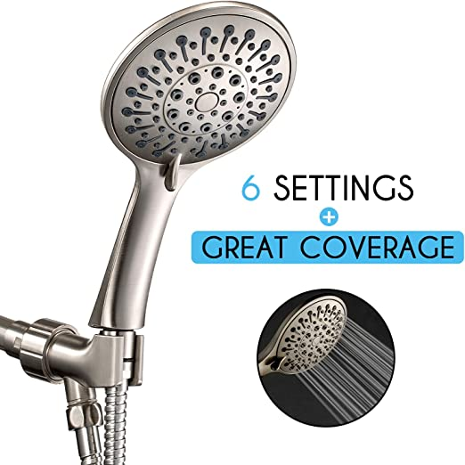 ABS Handheld High Pressure Shower Head Rainfall Bathing Boosting Sprayer Nozzle