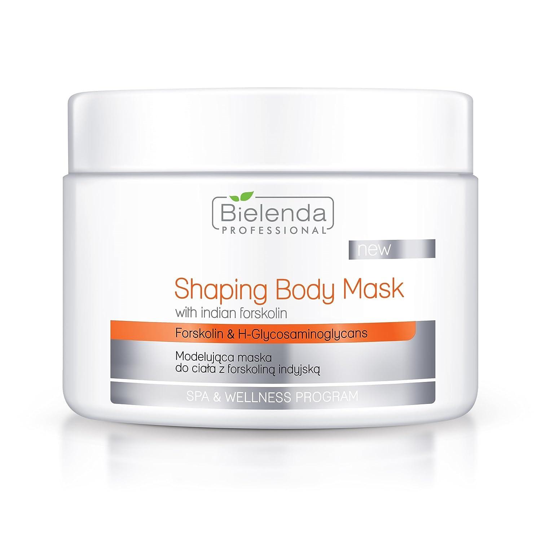 Bielenda - Máscara de cuerpo profesional con forskolin indio y cafeína - Modelujaca Maska do ciala 600 g Set con STAPIZZZHair Champú 15 ml o máscara 10 ml: ...
