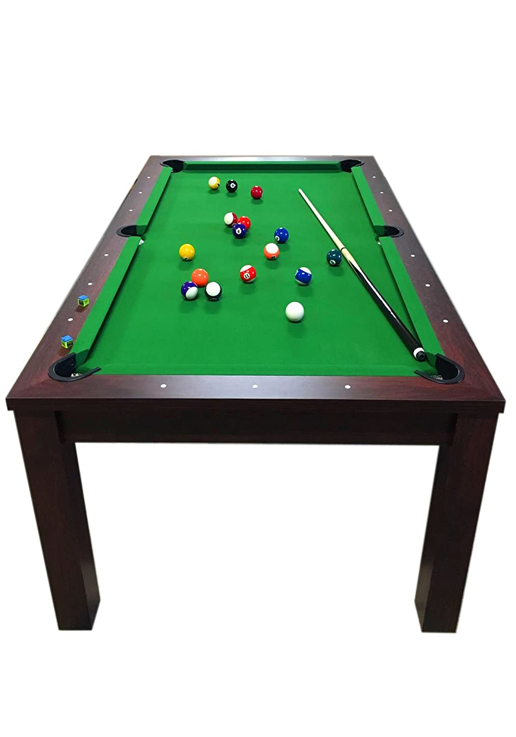 Amazon.com : POOL TABLE 7FT Model MISSISIPI Snooker Full Accessories ...