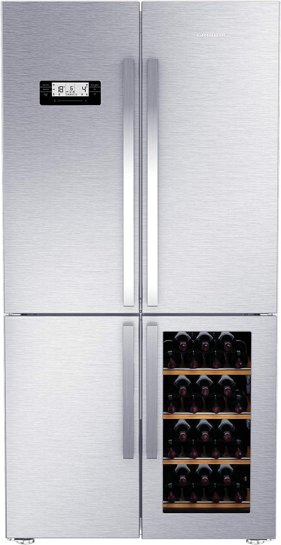 unten rechts//Eisw/ürfelherstellung//FullFresh+// Geruchsfilter//IonFresh// 43 dB Grundig GWN 21210 X 4-t/ürige Side-by-Side-Kombination//No Frost Weink/ühlfach