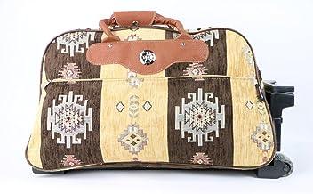 Roller Travel Bag-Large Weekender Bag with Wheels-Kilim Travel Bag in  Mustard c68184a83d137