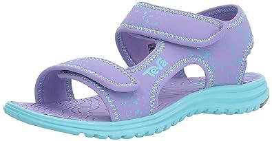 7bda1f207dd71 Teva Girls  Tidepool Sandal Purple Scuba Blue Splatter 1 M US Little Kid