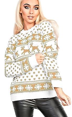 Long Sleeve Festival Christmas Eve Fair Isle Reindeer Snowflake ...