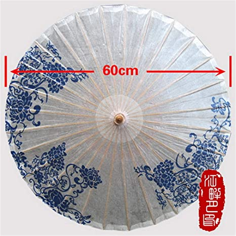 Amazon blue and white flower oil paper umbrella fresh single blue and white flower oil paper umbrella fresh single lady paper parasol conference meeting hanging umbrella mightylinksfo