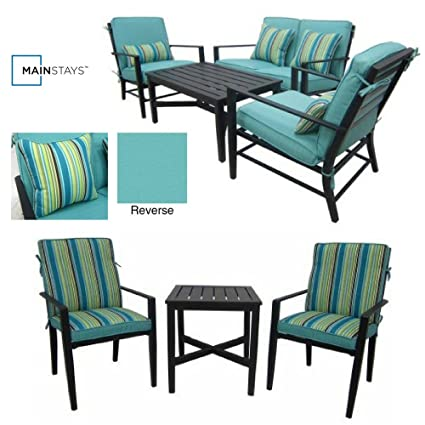 Fine Amazon Com 4 Piece Patio Conversation Set 3 Piece Bistro Home Interior And Landscaping Staixmapetitesourisinfo