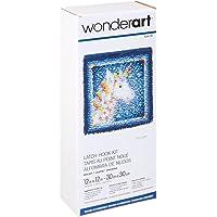 """WonderArt Latch-Hook Kit, Unicorn, 15"""" x 20"""", 1"""