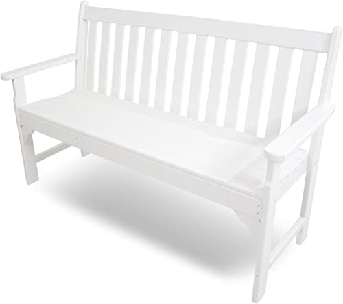 POLYWOOD GNB60WH Vineyard 60 Bench, White
