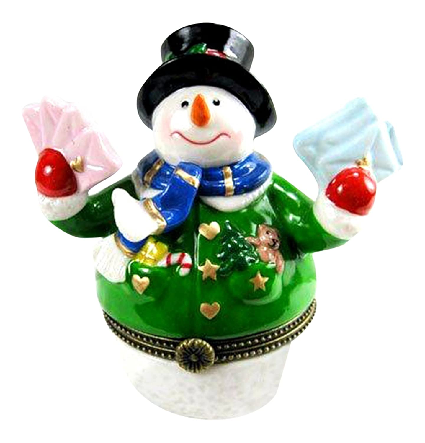 Snowman Mailing Letters and Christmas Cards Trinket Box