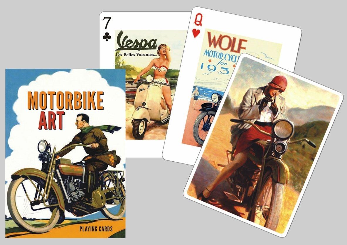 Motorbike Art Playing Cards by Piatnik