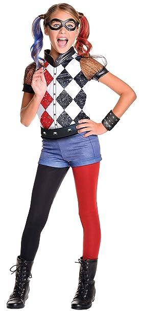 Rubies 620712 - DC Super Hero Girls Harley Quinn Deluxe, Traje de niño, S (3-4 años)
