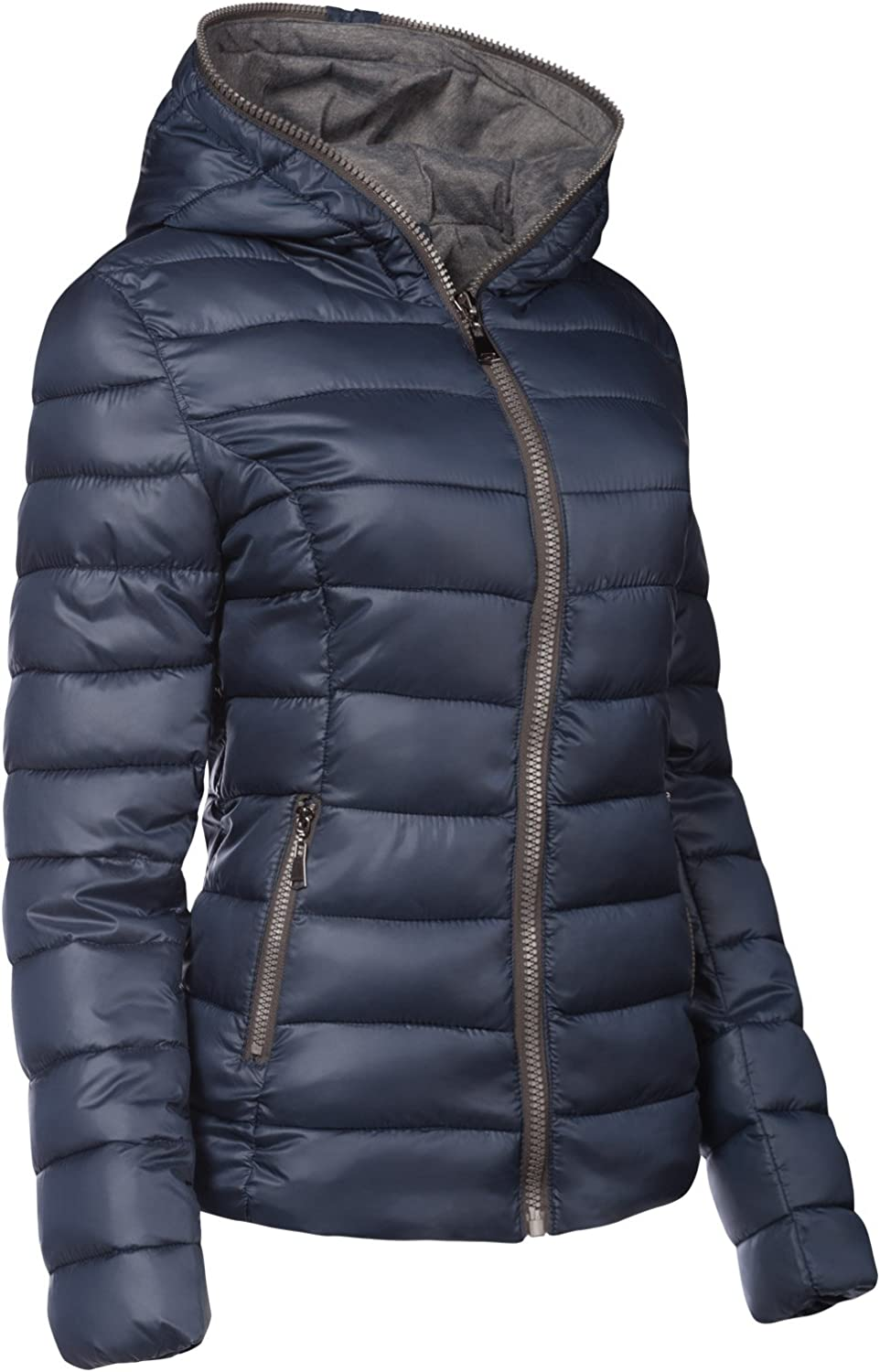 SWest Damen Winter Jacke GEF/ÜTTERT KURZ STEPP DAUNEN Optik Kapuze Skijacke WARM New