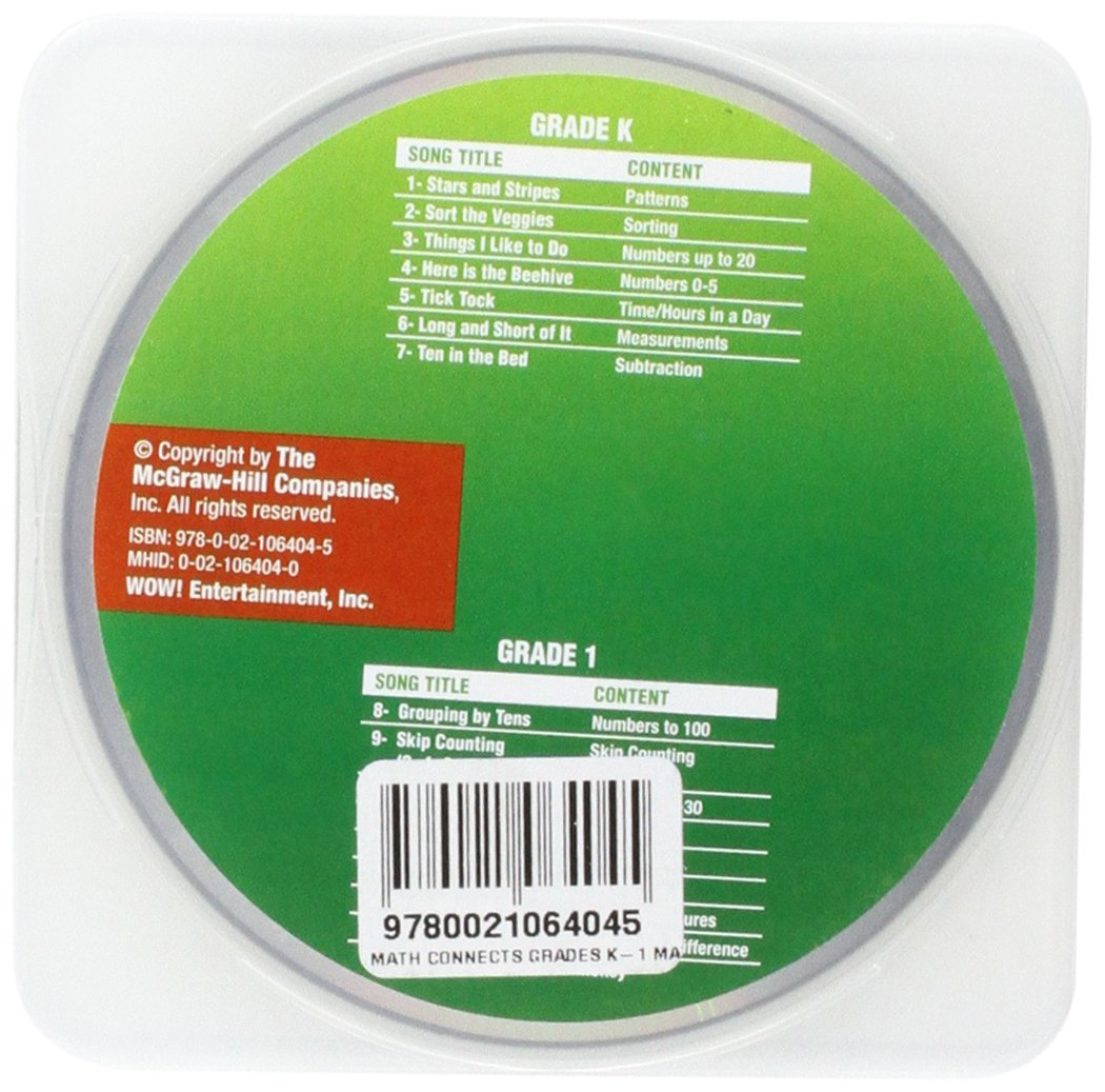 Math Connects, Grades K-1, Math Songs CD (ELEMENTARY MATH CONNECTS) by McGraw-Hill Education