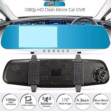 4.3 Full HD 1080P Mirrors Camera Video Recorder Dash Cam Auto Car DVR Rearview