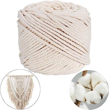 Cordón de algodón natural, cable de panadería, cable de cocina de grado alimentario para encuadernar pollo, para encuadernar carne, para manualidades y para proyectos de macramé (3 mm x 220 m): Amazon.es: