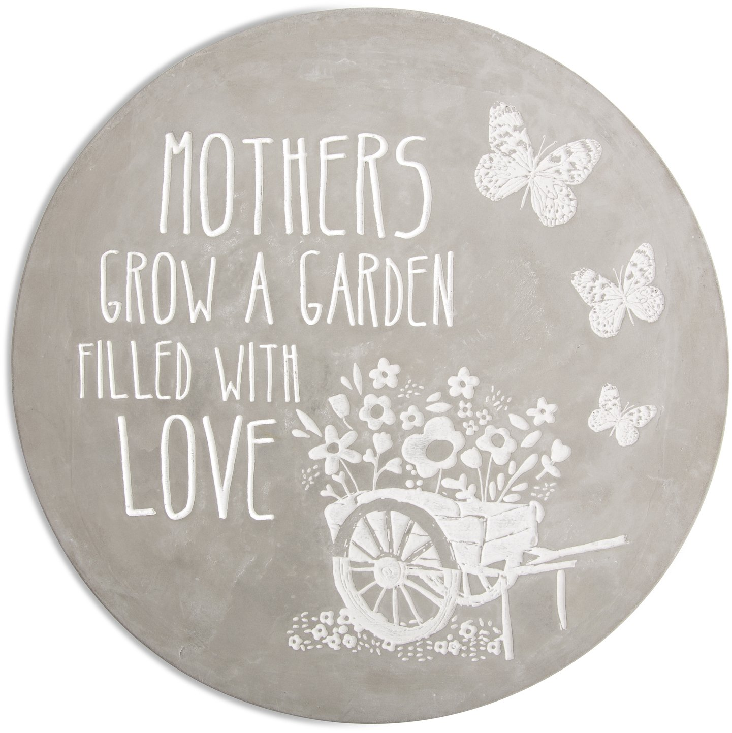 Pavilion Gift Company Mothers Grow a Garden Filled with Love Cement Stone