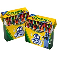 Crayola 64ct Ultra Clean Crayons, Amazon Exclusive, 2 Pack