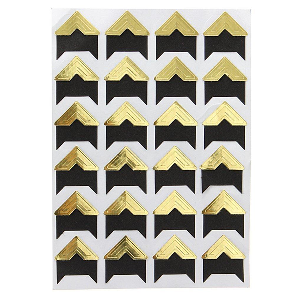 Kcopo Eckaufkleber Protector Aufkleber Corner Aufkleber Selbstklebend Aufkleber Fotoalbum Aufkleber Wird verwendet um DIY Fotoalbum zu machen 1 St/ück