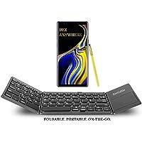 FireCable - Teclado y mousepad Bluetooth plegable para Galaxy Note 8 y 9 DeX | Compacto, de bolsillo | Totalmente compatible con smartphones, Android, tablets, iPhone