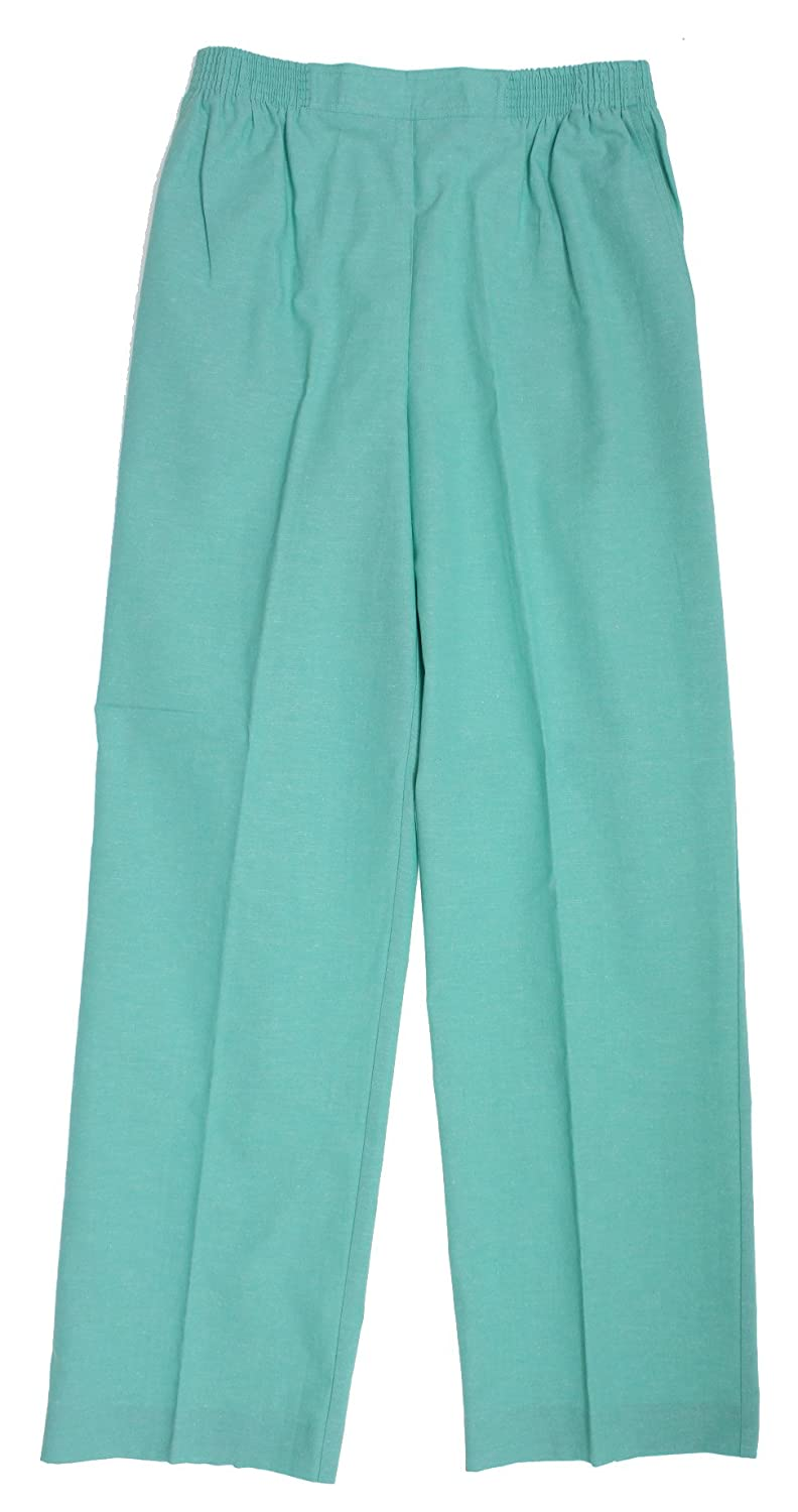 St Maarten Proportioned Medium Pant in Seafoam By Alfred Dunner