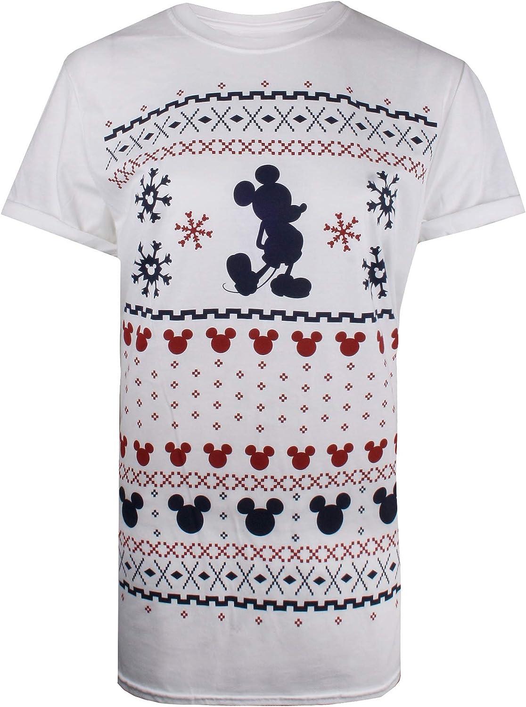 Disney Mickey Fairisle T-Shirt Donna