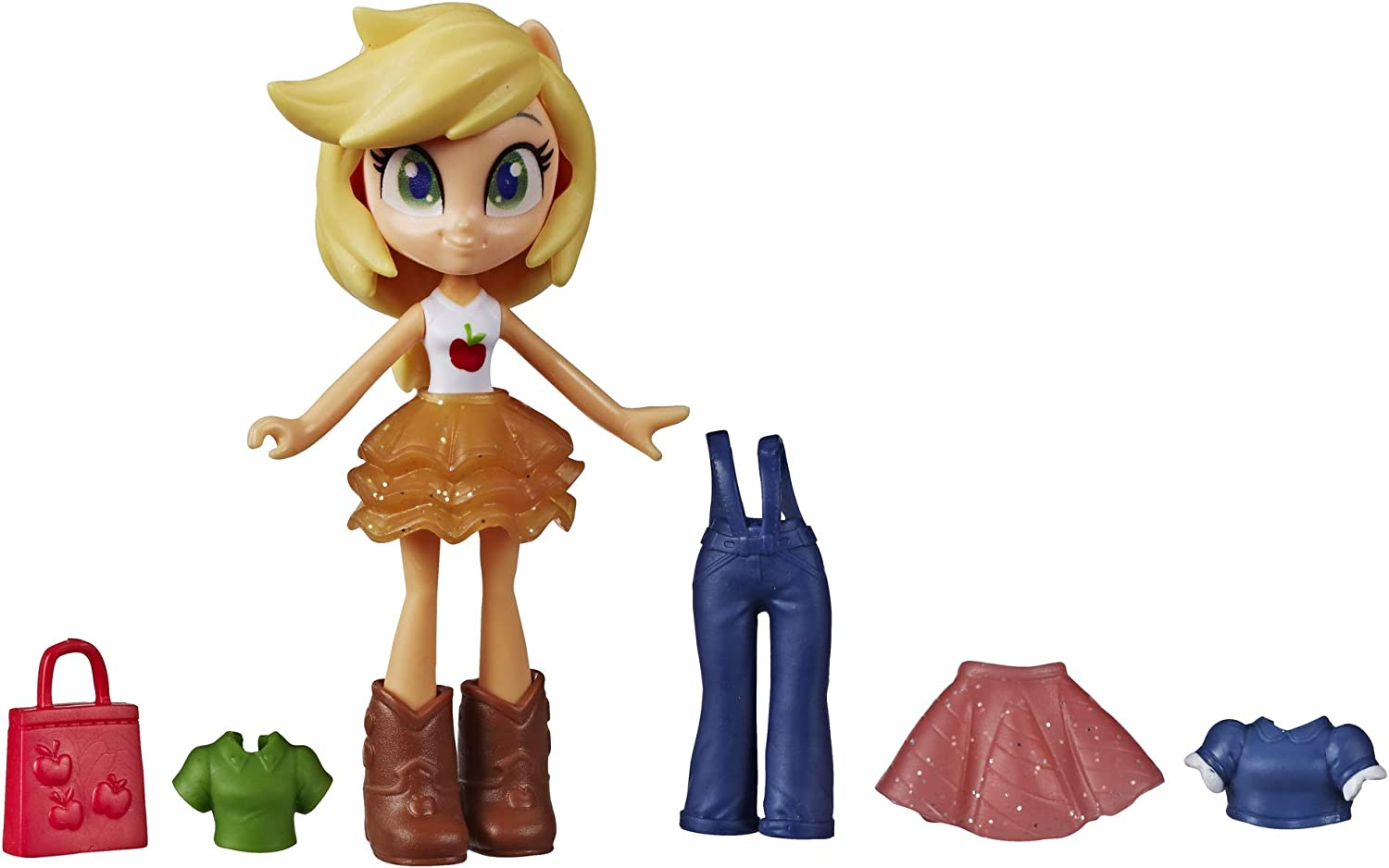 "My Little Pony Equestria Girls Fashion Squad Applejack, 3"" Potion Mini Doll Toy with Outfit & Surprise Accessories for Kids 5 & Up"