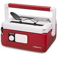 "Presto 6011 Slow Cooker, 7.4"" x 12.5"" x 15.9"", Red"