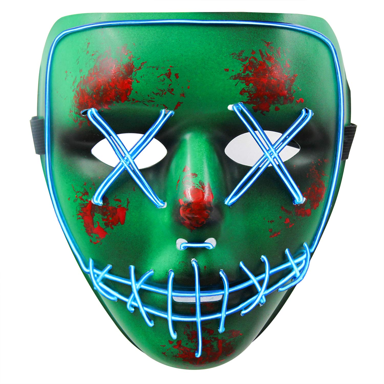 MeiGuiSha LED Halloween Mask Halloween Scary Cosplay Light up Mask for Festival Parties SH41