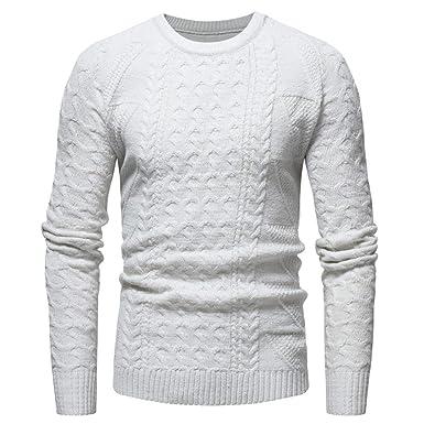 prezzo più basso 3d2c2 33303 Elecenty Maglione uomo invernale elegante Pullover solido ...