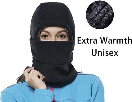 Amazon Com Leories Winter Windproof Polar Fleece Neck Warmer Balaclava Hooded Face Mask Ski Hood Snowboard Mask Black Clothing