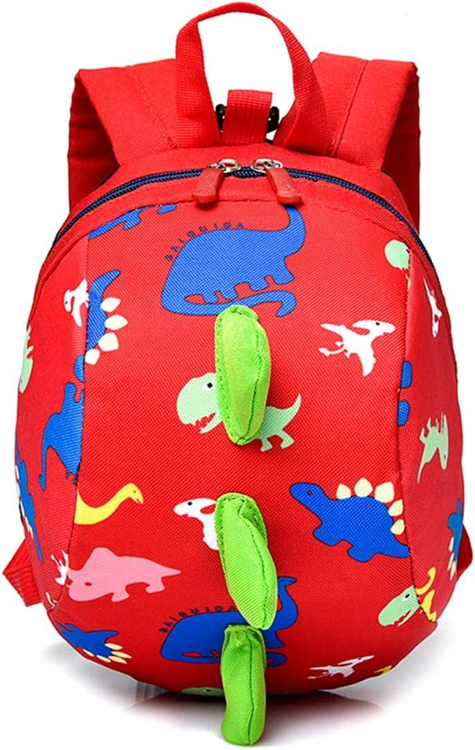 Biofieay Kids Backpack Dinosaur Rucksack Safety Anti-Lost Cartoon Preschool Bag with Harness Reins for Toddler Boys Girls