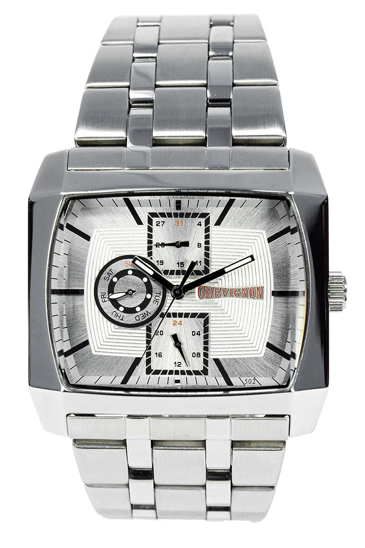 Chevignon Herren-Armbanduhr Analog Quarz Edelstahl 92-0014-502