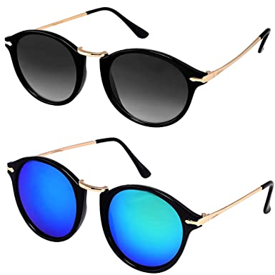 a7b643b17d3 Y S Men s Wayfarer and Aviator Sunglasses Combo (Black and Blue) - Pack of 2   Amazon.in  Clothing   Accessories