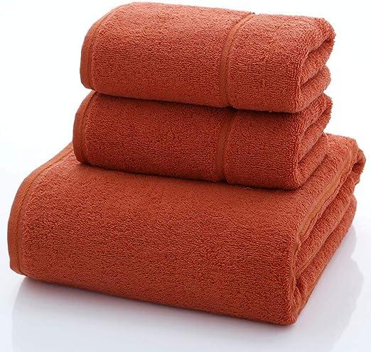 YYLY - Juego de Toallas de baño de algodón Egipcio Suave, 3 Piezas, 2 Toallas de Mano y 1 Toalla de baño: Amazon.es ...