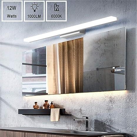 Specchio Bagno Bianco.Classe Di Efficienza Energetica A Lampada Da Specchio Led Vitcoco