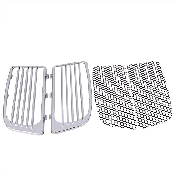 7681 Chrome Radiator Grills /& Screens for 2014-2019 Harley Twin Cooled Touring