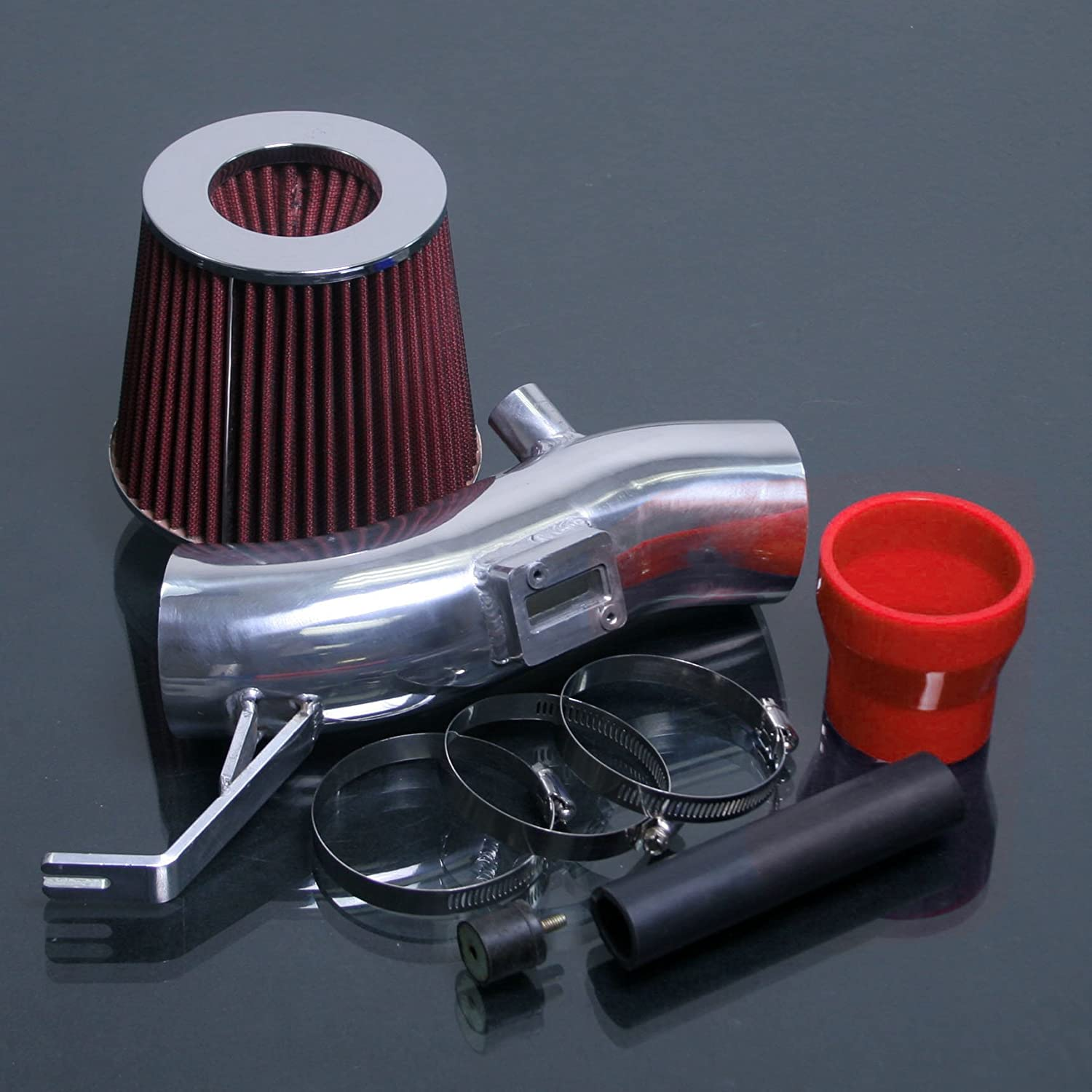 RED PERFORMANCE AIR INTAKE KIT FILTER FOR 2007-2012 NISSAN ALTIMA 2.5 2.5 L4 ENGINE