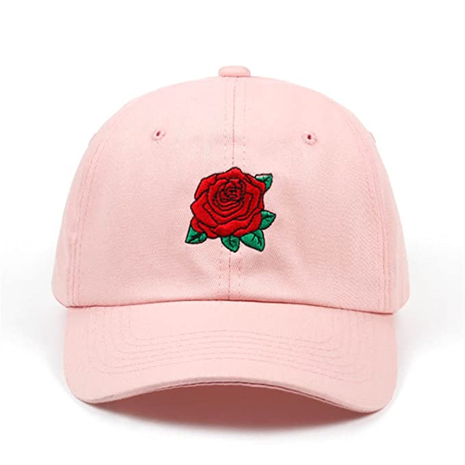 a27e707697857 Roses Men Women Baseball Caps Spring Summer Sun Hats for Women Solid  Snapback Cap Wholesale Dad