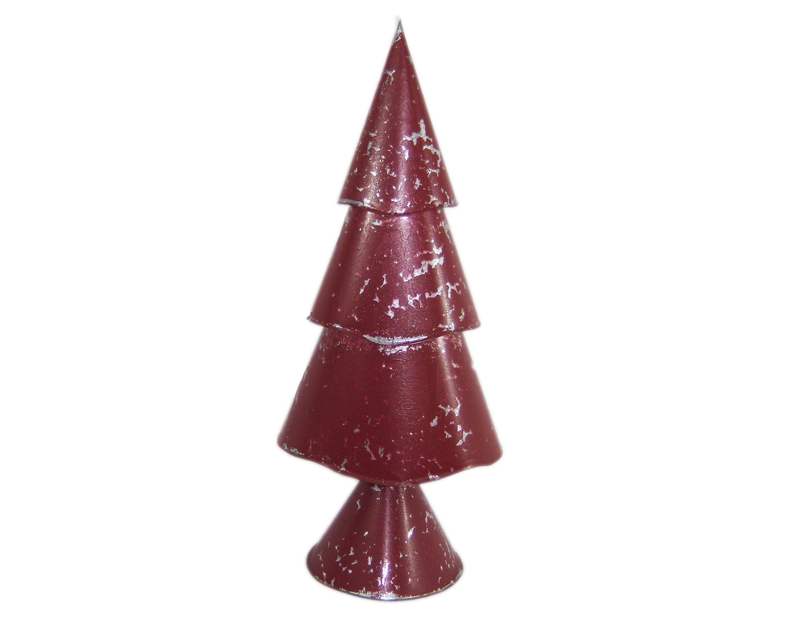 Large Red Three-Tier Christmas Tree