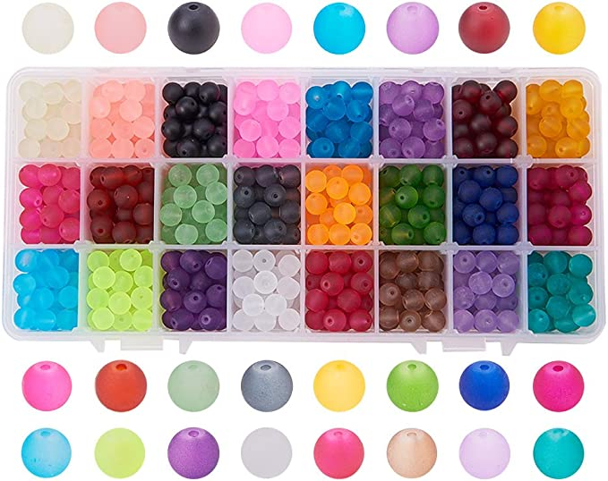 Fabrication De Bijoux 100 pièces de 8 mm Round Glass Pearl Beads-Buy One Get One Free