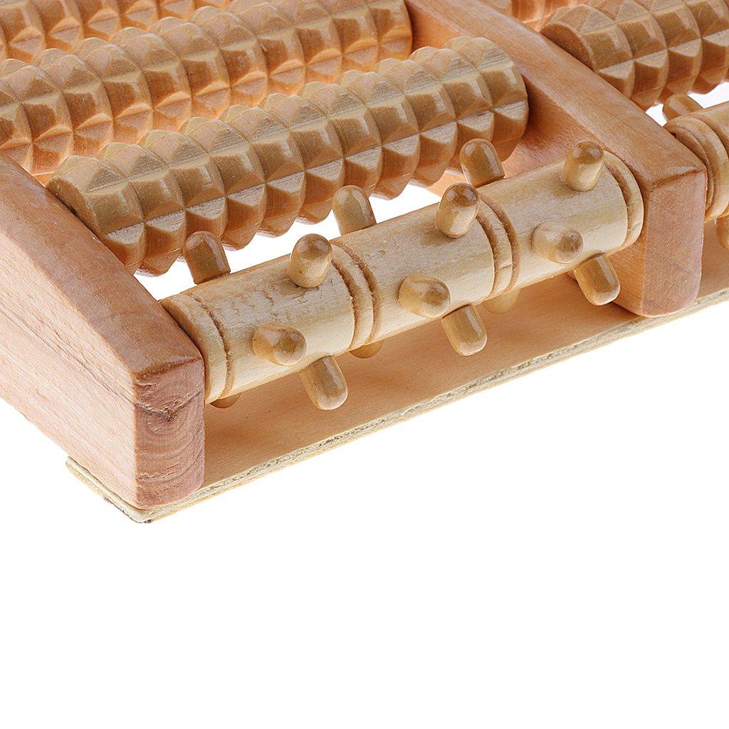 MagiDeal Fußmassage aus Holz für Fußreflexzonenmassage für Plantar