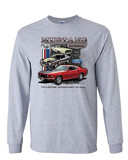 Amazon.com: Ford Mustang Classics Camiseta de manga larga ...