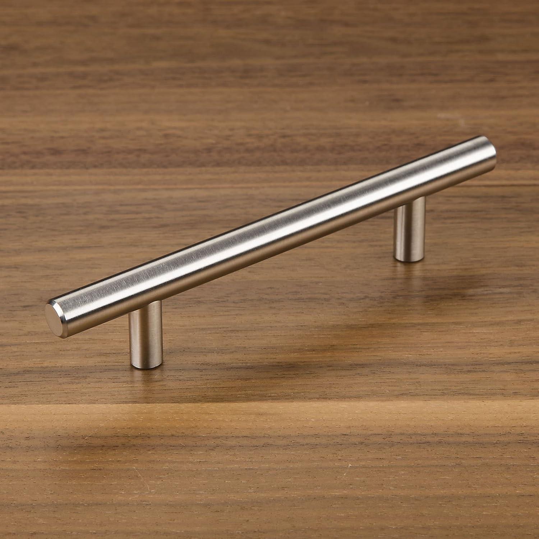 10 x SO-TECH/® Poign/ée de meuble G14 Acier Affin/é Poign/ée barre Distance de trous 192 mm