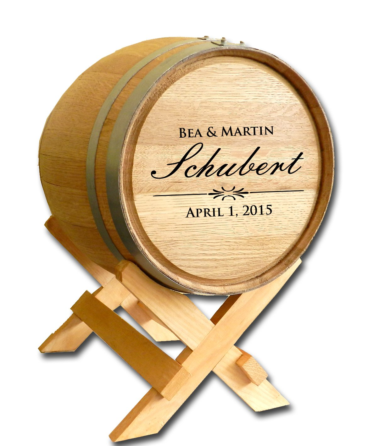 Personalized Wedding Card Barrel by Thousand Oaks Barrel Co.
